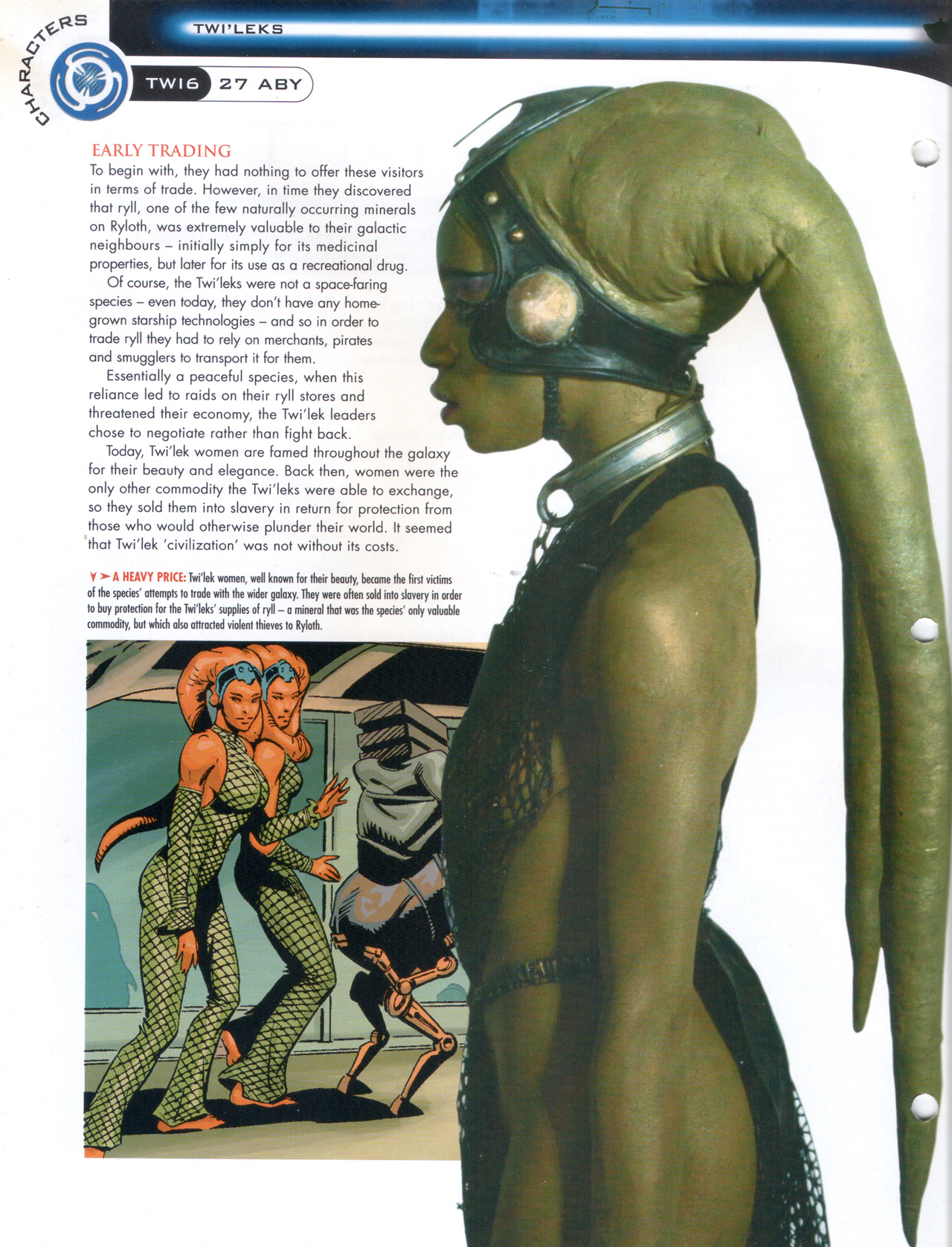 Oola in Star Wars Fact File 68 - Oola Jabba's Twi'lek Slave