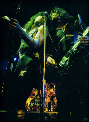 Paul and Ace ~Detroit Michigan...January 25 1976 Alive Tour Cobo Hall
