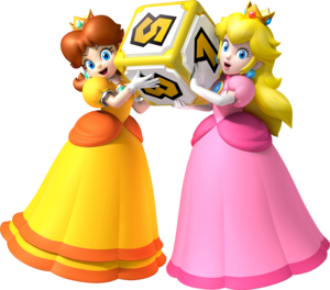 pic, peach and daisy