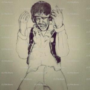 Pencil Rendering of Jimi Hendrix
