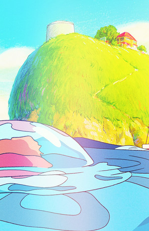 Ponyo on the Cliff oleh the Sea phone background