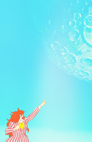 Ponyo on the Cliff by the Sea phone background