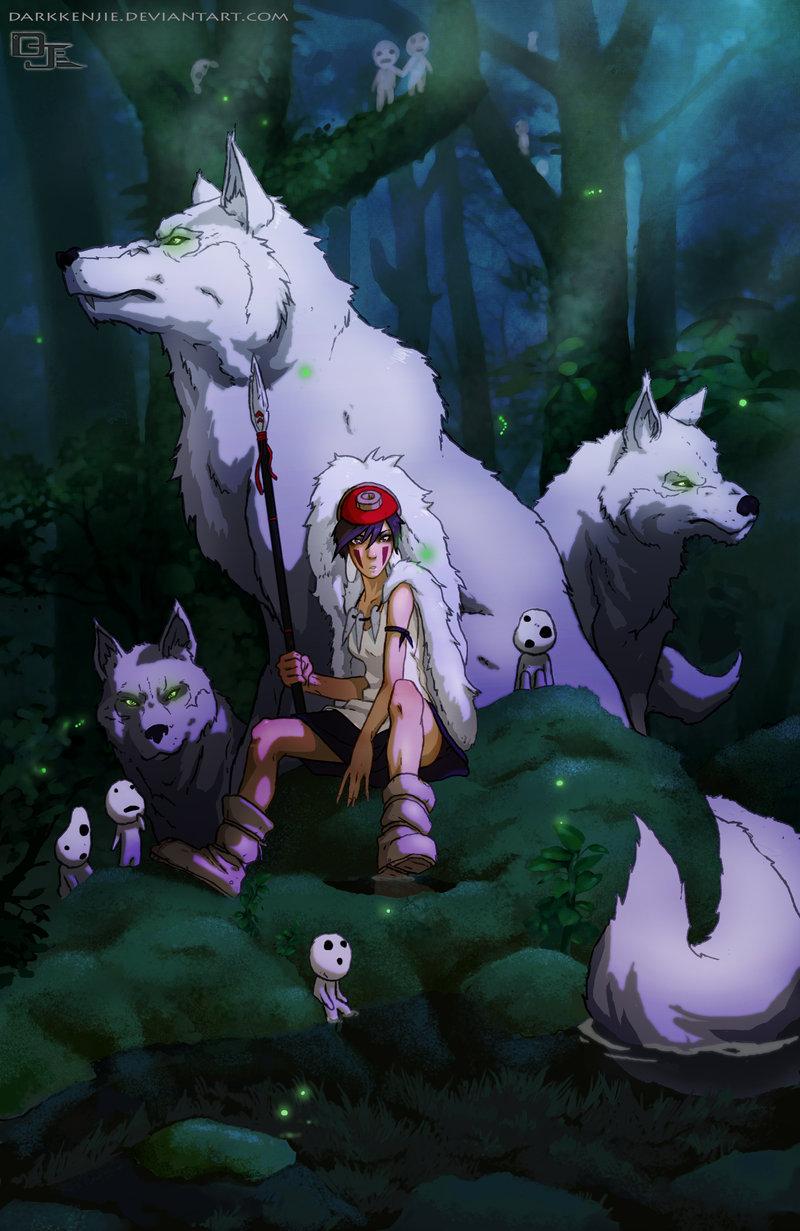 Princess Mononoke - Studio Ghibli Fan Art (38967492) - Fanpop