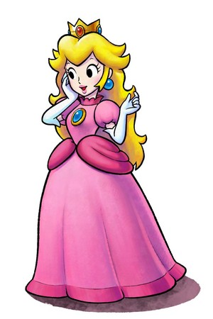Princess peach, pichi (Mario and Luigi Paper Jam)