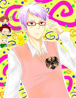 Prussia with glasses