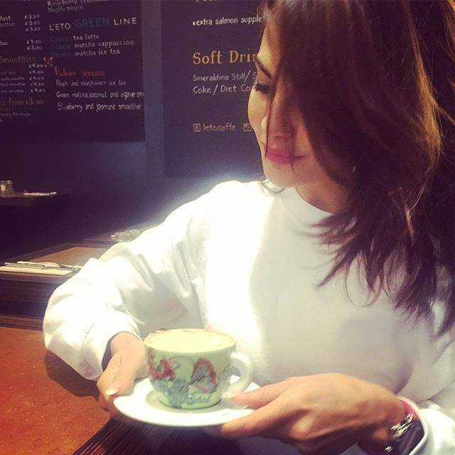 Image result for jacqueline having green tea,nari