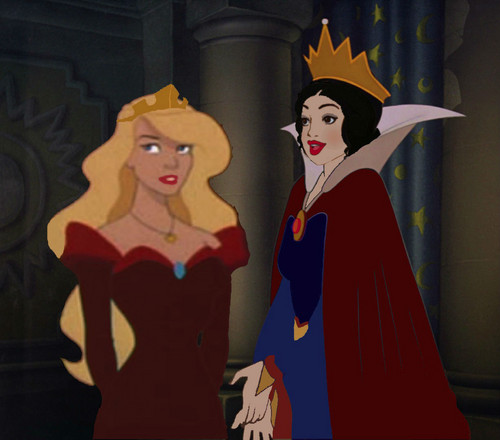 Disney Princess karatasi la kupamba ukuta entitled Queen Snow White and her daughter, Emma