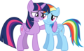 Rainbow Dash and Twilight Sparkle - my-little-pony-friendship-is-magic photo