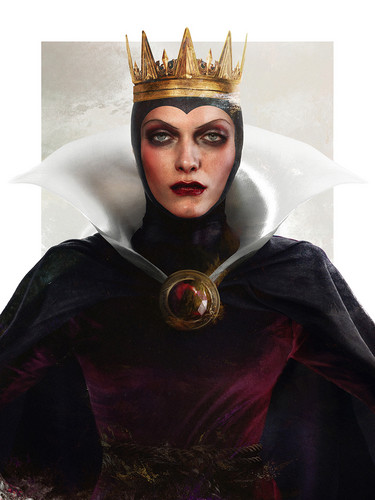 Childhood Animated Movie Villains wallpaper with a sopravveste, surcotto entitled Real Life Evil Queen