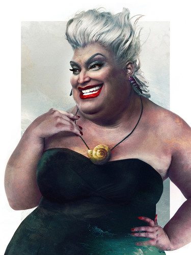 Childhood Animated Movie Villains wallpaper entitled Real Life Ursula