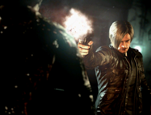 Leon Kennedy 바탕화면 probably with a street, a sign, and a business suit called Resident Evil 6 - Zombie 로딩 Screen