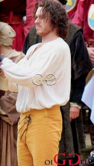 Richard Madden on set of Medici