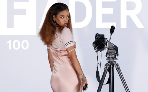 Rihanna wallpaper possibly containing a camera tripod entitled Rihanna for The Fader magazine
