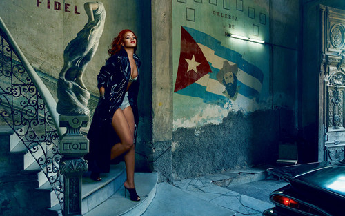 Rihanna wallpaper containing a street called Rihanna for Vanity Fair