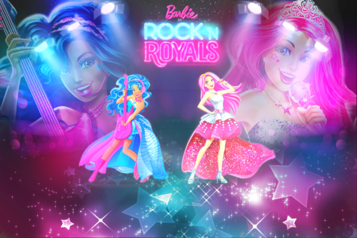 Barbie فلمیں پیپر وال called Rock n Royals پیپر وال