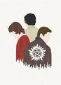 Sam, Dean and Castiel - supernatural fan art