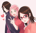 Sasusaku Family! - sasusaku fan art