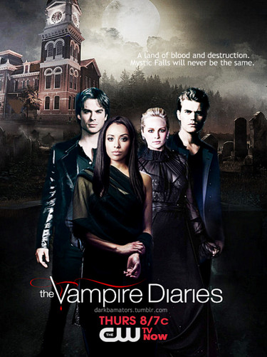 The Vampire Diaries TV tunjuk kertas dinding titled Season 7