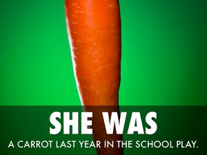 She Was a Carrot Last mwaka in the School Play