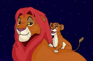 Simba and Kiara - The Lion King.