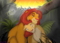 Simba and Nala - simba-and-nala fan art