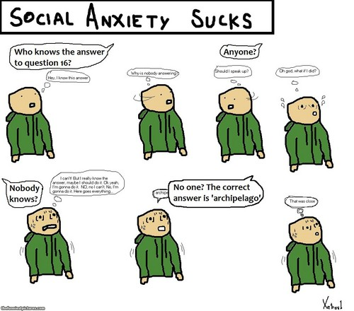 Social Anxiety 바탕화면 with 아니메 titled Social Anxiety Sucks.