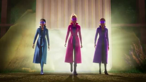 Barbie Movies wallpaper probably containing a cloak entitled Spy Squad trailer