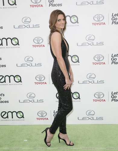스타나 카틱 바탕화면 titled Stana Katic arrives at the EMA 2015.
