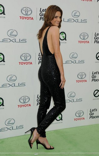 Stana Katic karatasi la kupamba ukuta probably with tights and a leotard called Stana Katic arrives at the EMA 2015.