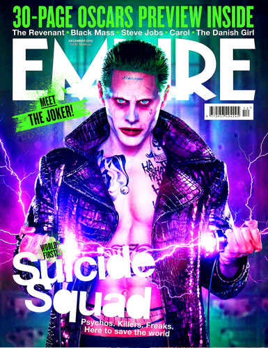 Suicide Squad wallpaper with anime entitled Suicide Squad - Edited Empire Magazine Cover - Jared Leto as The Joker