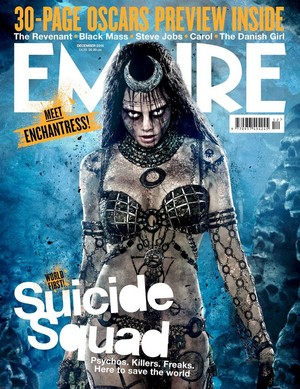 Suicide Squad - Empire Magazine Cover featuring Cara Delevingne as Enchantress - December 2015
