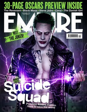 Suicide Squad - Empire Magazine Cover featuring Jared Leto as The Joker, Version 2 - December 2015