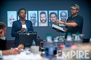 Suicide Squad Stills - Viola Davis and David Ayer