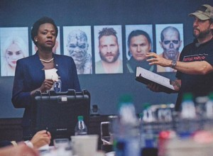 Suicide Squad Stills - Viola Davis as Amanda Waller and David Ayer