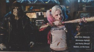 Suicide Squad Stills - Adewale Akinnuoye-Agbaje as Killer Croc and Margot Robbie as Harley Quinn