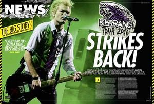 Sum 41 on Kerrang Magazine