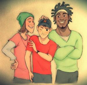 Tadashi, Fred and Wasabi