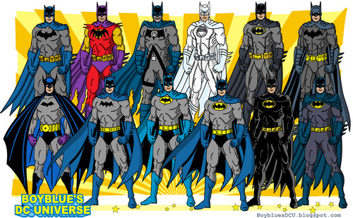 DC Comics achtergrond possibly with anime titled The Evolution of Batman (Bruce Wayne)