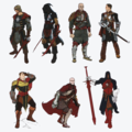 The Inquisitor concept art in The Art of Dragon Age: Inquisition