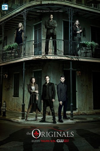 The Originals Hintergrund containing a brownstone, a street, and a school titled The Originals - Season 3 - Poster