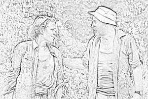 The Walking Dead - Coloring Pages - Andrea and Dale
