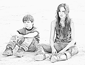 The Walking Dead - Coloring Pages - Carl and Lori