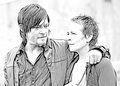 The Walking Dead - Coloring Pages - Daryl and Carol