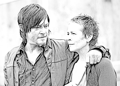 The Walking Dead Hintergrund probably containing a business suit and a portrait entitled The Walking Dead - Coloring Pages - Daryl and Carol