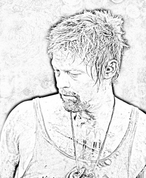 The Walking Dead - Coloring Pages - Daryl