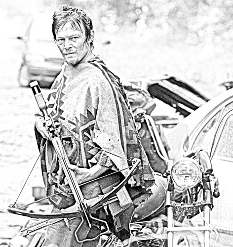 The Walking Dead wallpaper probably containing a rifleman, a green beret, and a navy seal called The Walking Dead - Coloring Pages - Daryl