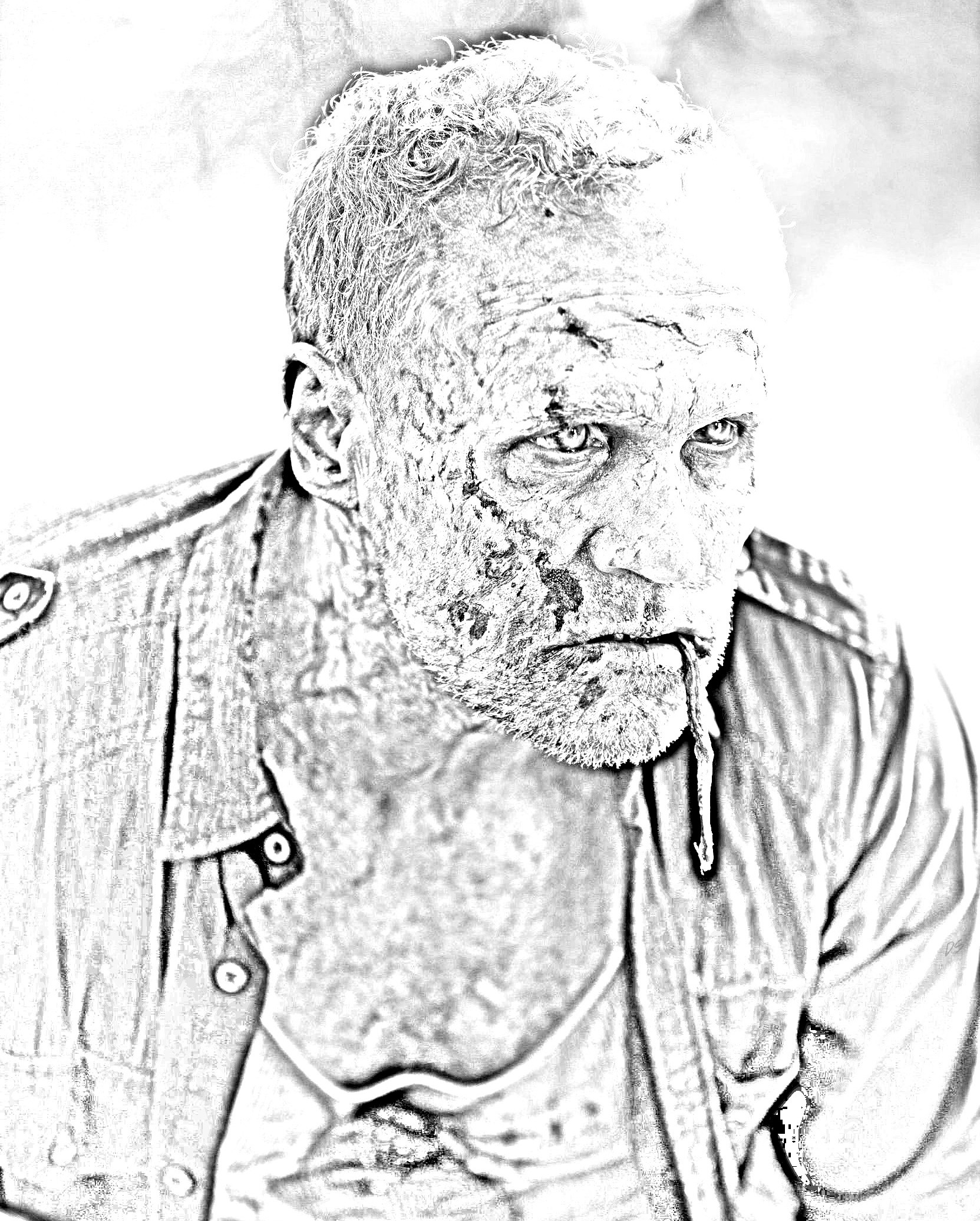 The Walking Dead Coloring Pages Merle The Walking