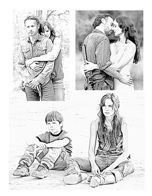 The Walking Dead - Coloring Pages - Rick, Lori and Carl