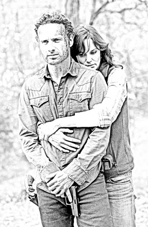 The Walking Dead - Coloring Pages - Rick and Lori