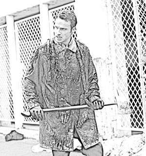 The Walking Dead - Coloring Pages - Rick